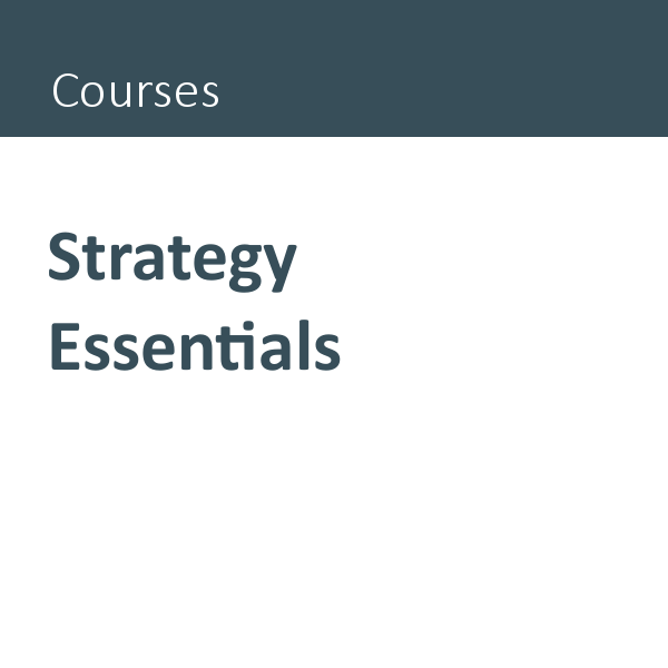 Strategy Essentials course